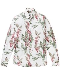 Hentsch Man White Floral Friday Shirt - Lyst