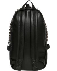 Supe Design - Studded Faux Leather Backpack - Lyst