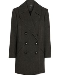 Isabel Marant Ziggy Wool and Cotton-blend Brushed-twill Coat - Lyst