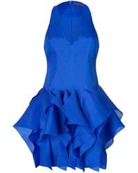 Ralph Lauren Collection Silk Puff Skirt Halter Dress - Lyst