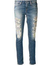 Levi's Distressed Jeans - Lyst