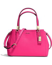 Coach Madison Mini Christie Carryall in Saffiano Leather - Lyst