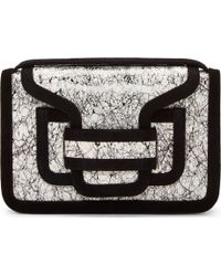 Pierre Hardy Black and White Snake Scribble Foldover Clutch - Lyst