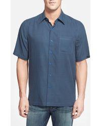 e0bb48e8 Nat Nast - 'houndog' Regular Fit Short Sleeve Silk & Cotton Sport Shirt -