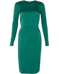 Acne Studios Noble Silk Sea Green Dress - Lyst
