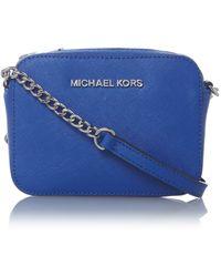 Michael Kors Jet Set Travel Blue Small Chain Cross Body Bag - Lyst