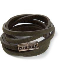 Diesel Green Acavi Bracelet - Lyst