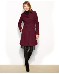 Kenneth Cole Reaction Wool-blend Point-collar Walker Coat - Lyst