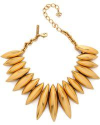 Oscar de la Renta - Disc Necklace - Russian Gold - Lyst
