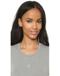 Michael Kors - Pave Traingle Lariat Necklace - Silver/clear - Lyst