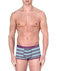 Calvin Klein Micro Block Low-rise Trunks - Lyst