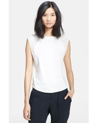 3.1 Phillip Lim Baseball Tank With Contrast Shoulders - Lyst