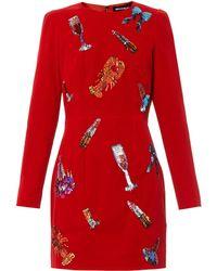 House Of Holland Sequin-embellished Velvet Dress - Lyst