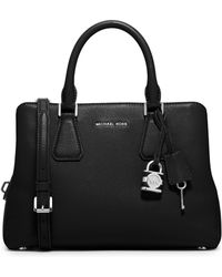 MICHAEL Michael Kors | Camille Medium Leather Satchel | Lyst