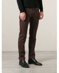 Etro Fine Checked Trousers - Lyst