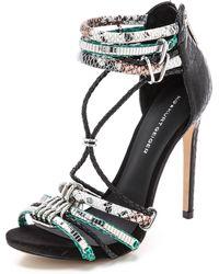 KG by Kurt Geiger Native Sandals - Black/Green - Lyst