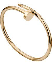 Cartier Juste Un Clou 18Ct Pink-Gold Bracelet - Lyst