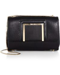 Jimmy Choo Alba Snakeskin & Leather Shoulder Bag - Lyst