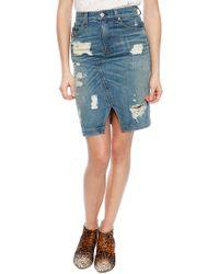 Rag & Bone Denim Skirt - Lyst