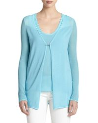 Elie Tahari Silk & Cotton Allison Sweater - Lyst