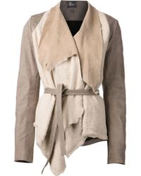 Lost & Found - Draped Shearling Jacket - Lyst