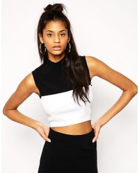Asos Co-ord Structured Shell Top in Color Block - Lyst