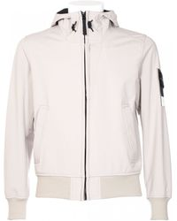 Stone Island Beige Color Light Soft Shell Jacket beige - Lyst