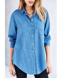 Cheap Monday Turn Denim Shirt - Lyst