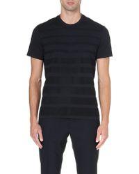 Jil Sander Texturedstripe Tshirt Black - Lyst