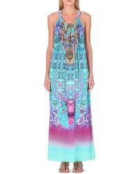 Camilla Halterneck Silk Maxi Summer Dress - For Women multicolor - Lyst