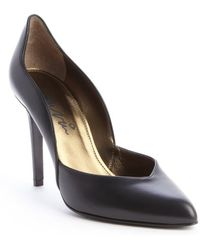 Lanvin Black Leather Escarpin Pump - Lyst