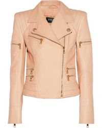 Balmain Leather Biker Jacket - Lyst