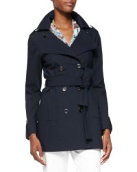 Carolina Herrera Bonded Double-Breasted Trench Coat - Lyst
