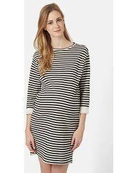 Topshop Striped Tunic Maternity Dress black - Lyst