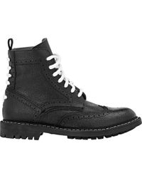 Givenchy Commando Wingtip Boots - Lyst
