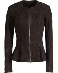 The Row Leather Outerwear - Lyst