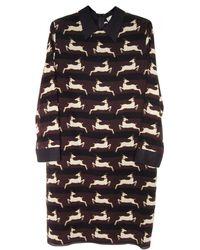 Giada Forte Deer Print Collared Dress - Lyst