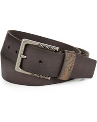 John Varvatos Leather Belt - Lyst