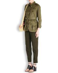 Marc Jacobs - Olive Embellished Cotton Jacket - Lyst