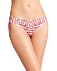 Hanky Panky Anchor Stripe Thong multicolor - Lyst