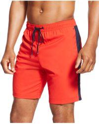 Tommy Hilfiger Drawstring Shorts red - Lyst