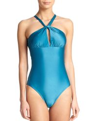 ViX One-Piece Davin Swimsuit blue - Lyst