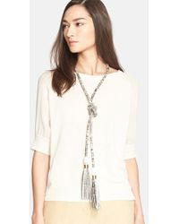 Max Mara Women'S 'Tisbe' Snakeskin Necklace/Belt - Beige - Lyst