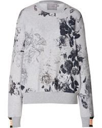 Preen Cotton Blend Printed Sweatshirt - Lyst