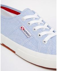 Superga 2750 Oxford Blue Sneakers - Lyst