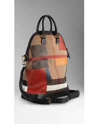 Burberry The Small St Ives in Handpainted Canvas Check - Lyst