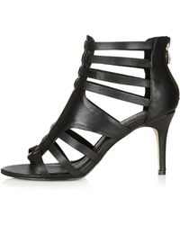 Topshop Neve Strappy Sandals  Black - Lyst