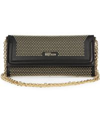 Alexander McQueen Studded Leather Wallet with Chain - Lyst