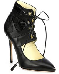 Brian Atwood Elis Watersnake Leather Pumps - Lyst