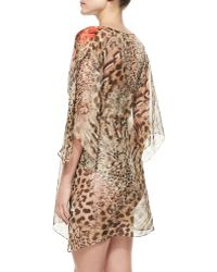 Gottex Maculato Silk Leopardprint Coverup Beach Dress - Lyst